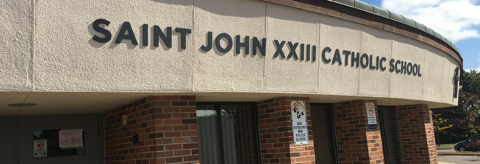 Exterior of school Saint John XXIII Catholic School